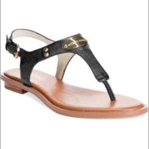 Michael Kors Logo Plate Thong Sandal Size 6.5